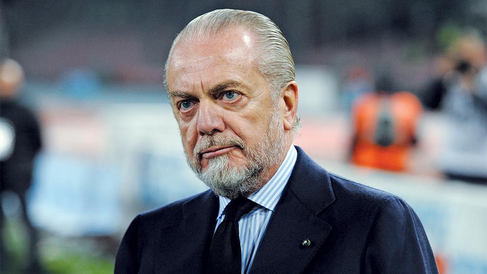 Napoli: ADL infuriato per la direzione del match contro il Sassuolo, proteste per telefono con Gravina