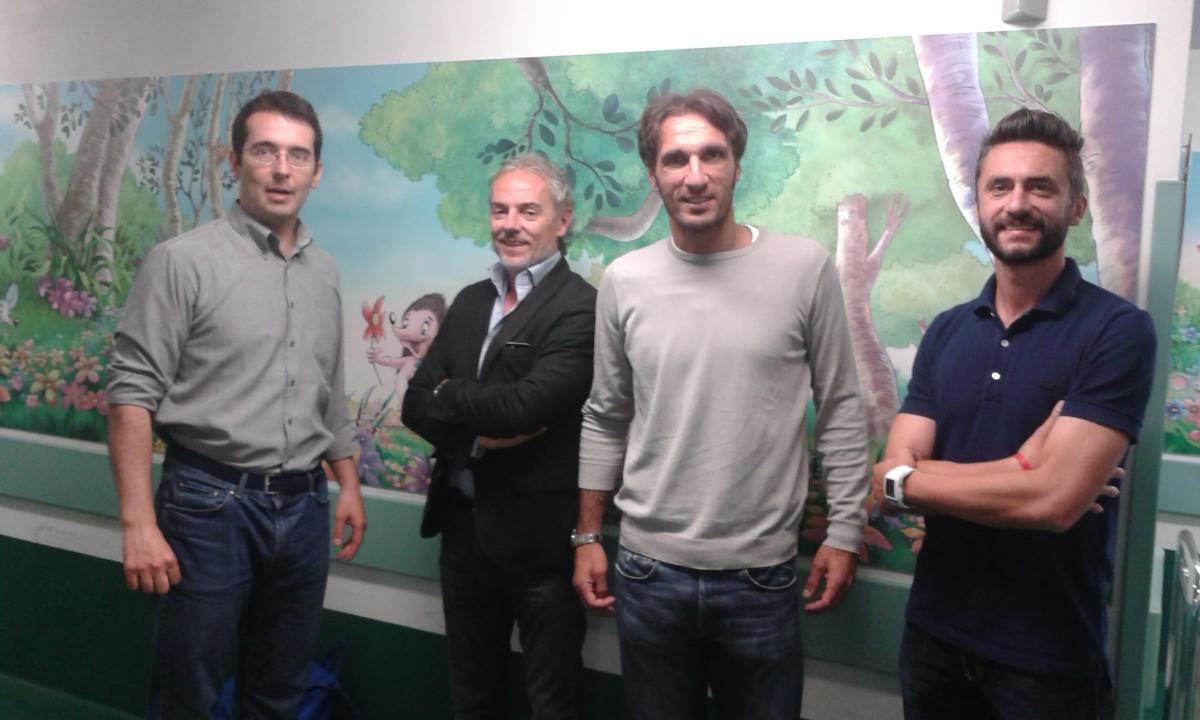 Mezzolara Calcio in visita alla Pediatria Gozzadini-S. Orsola