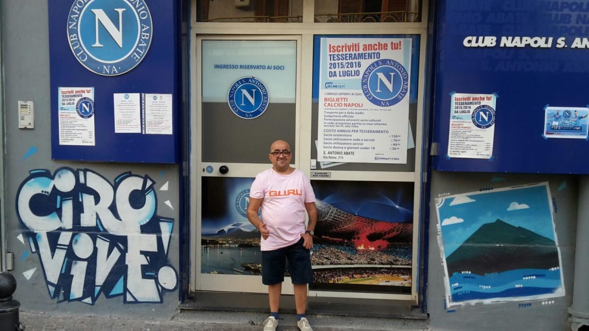"""Raffaele Sorrentino (pres., Club Napoli Sant'Antonio Abate): """"Mi tengo il Napoli di ADL, ma rimpiango Mazzarri"""""""