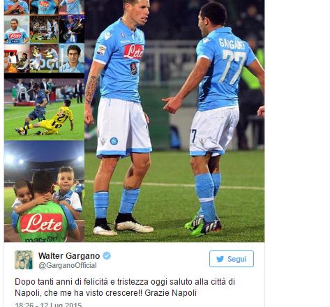 L'ex azzurro Gargano: