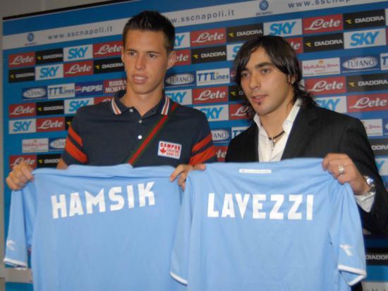 Marek Hamsik ed Ezequiel Lavezzi nel 2007