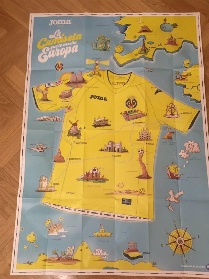 Il Villarreal indosserà una maglia interattiva che indicherà il percorso Champions