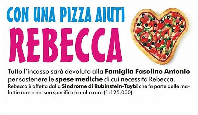 SOLIDARIETA' – Con una pizza aiuti Rebecca
