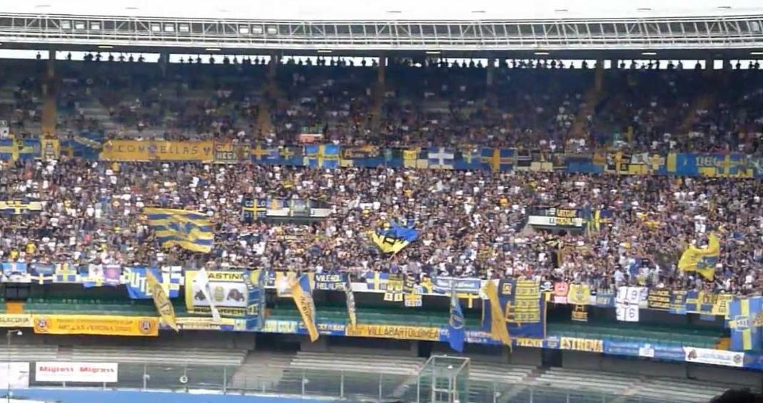 Da Verona: Curva sud del Bentegodi chiusa contro il Napoli per squalifica