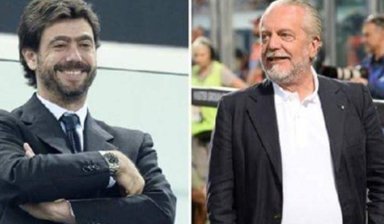 De Laurentiis si congratula con Agnelli per la presidenza dell'ECA