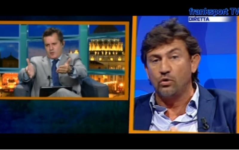 """VIDEO – Gran lite Pedullà-Savoldi jr: """"Quanto veleno contro Sarri! Sei un maleducato, mi dispiace per tuo padre!"""""""