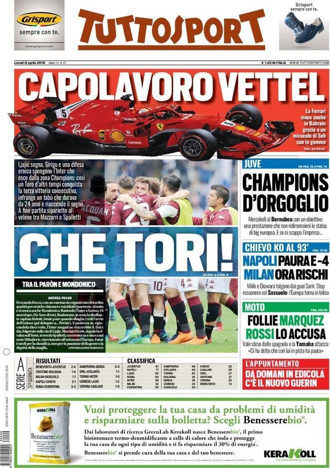 "Tuttosport: ""Napoli, paura e meno quattro: Milik e Diawara tolgono dai guai Sarri"""