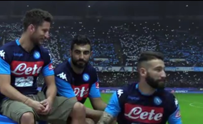 """VIDEO – Casa Napoli, """"Lezioni di cuore"""" protagonisti: Mertens, Albiol e Tonelli"""