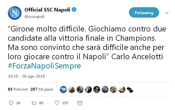 Sorteggi Champions arrivano le parole a caldo di Ancelotti