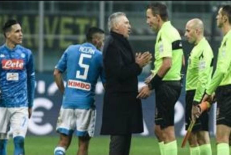 UFFICIALE – Espulsione Ancelotti: la decisione del Giudice Sportivo