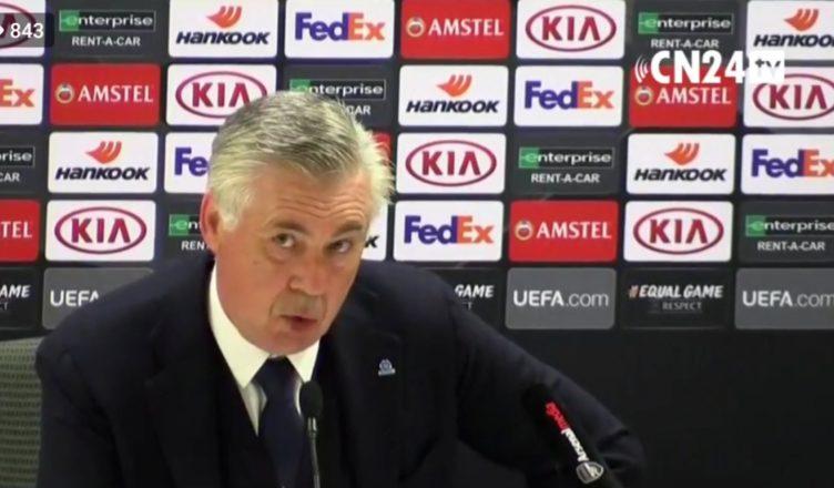 """Ancelotti a Dazn: """"Llorente giocatore con caratteristiche nuove per noi, Su Inter Juve…"""""""