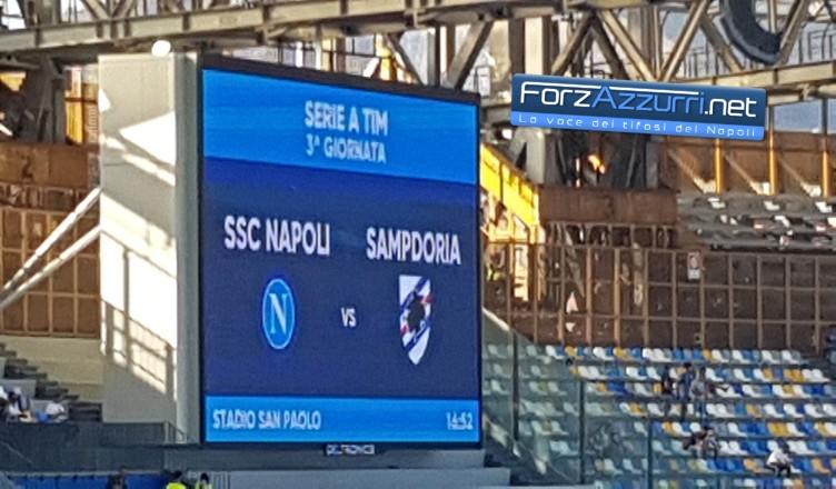 DIRETTA NAPOLI-SAMP: segui il match live su ForzAzzurri.Net