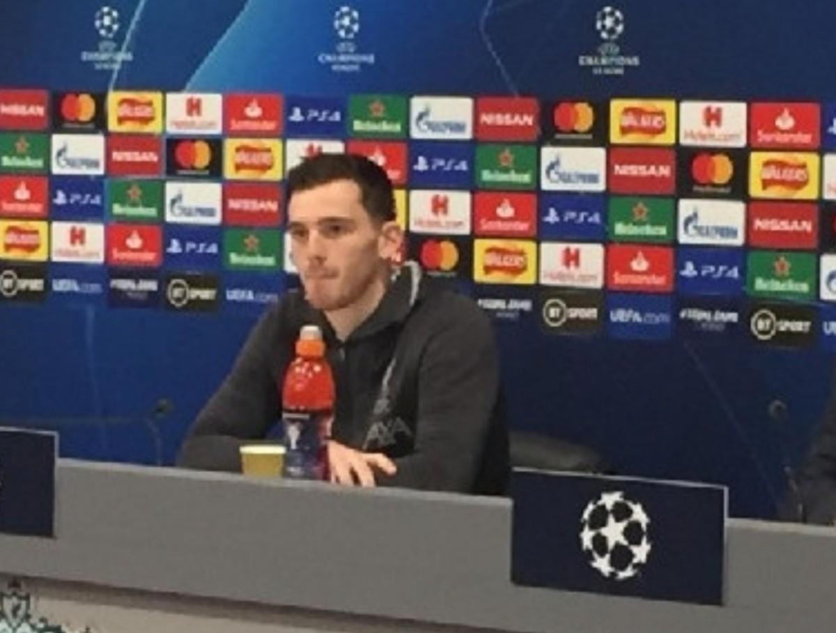 """Liverpool, Robertson: """"Vogliamo battere il Napoli, ci impegneremo al 100% per vincere! Vicenda ritiro? Hanno sicuramente un lavoro da fare per qualificarsi agli ottavi di finale…"""""""