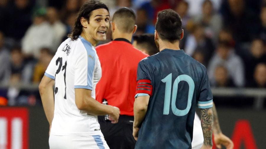"""Messi a Cavani: """"Picchiarti? Quando vuoi!"""""""