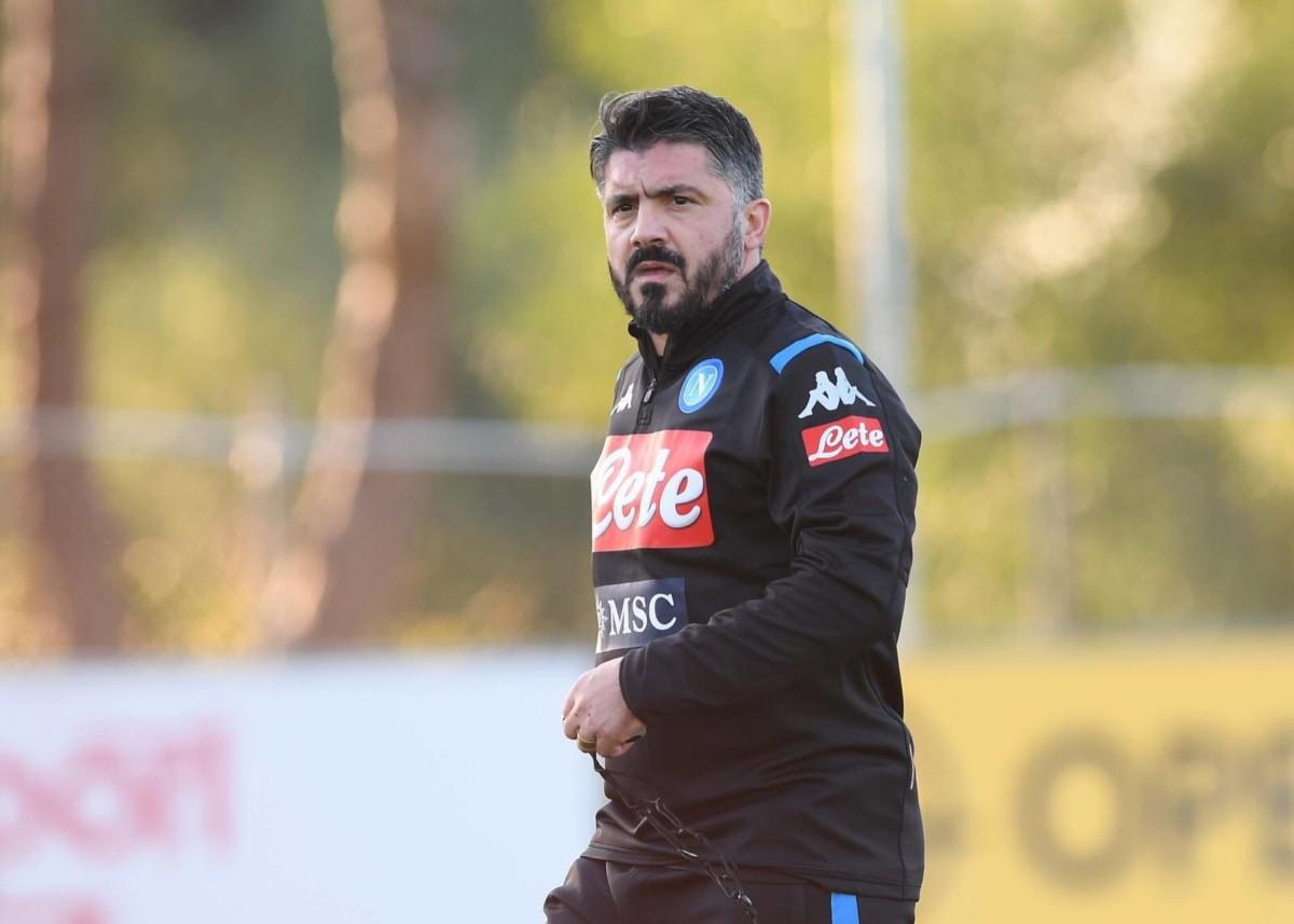 """Napoli, Gattuso rassicura i calciatori: """"Multe? Parlerò io con De Laurentiis"""""""