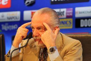 """Napoli, messaggio di De Laurentiis alla squadra: """"Clima sere"""
