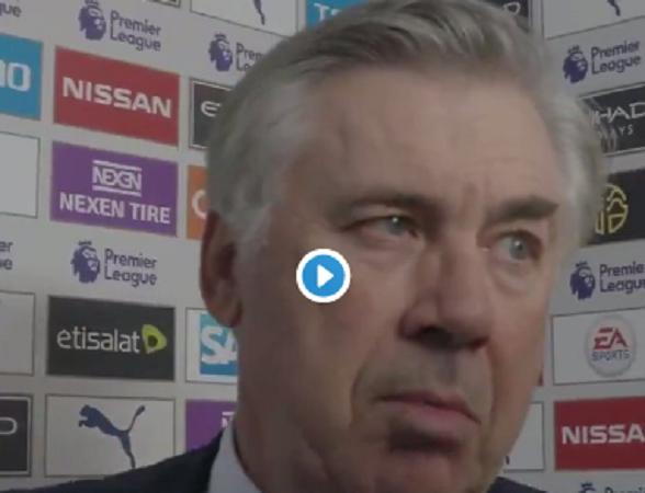 Ancelotti commenta la sua prima sconfitta sulla panchina dell'Everton
