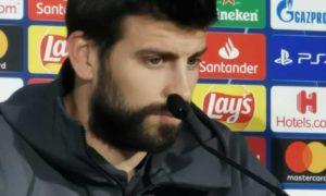 """Barcellona, Piquè in conferenza: """"Il Napoli? Ha battuto la J"""