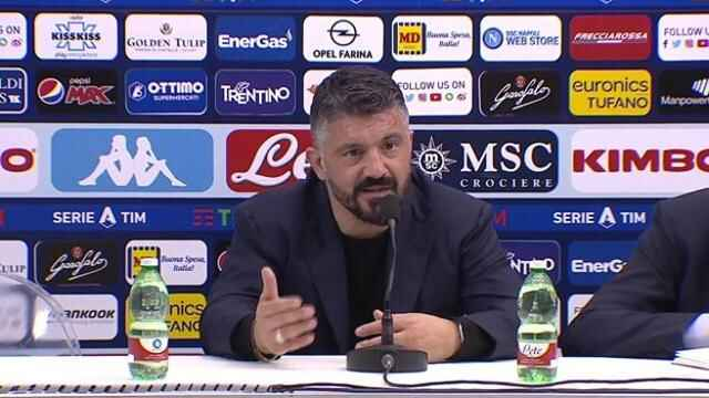 """Napoli, Gattuso: """"Mi fa rabbia non aver potuto giocare contro la Juve, eravamo pronti"""""""