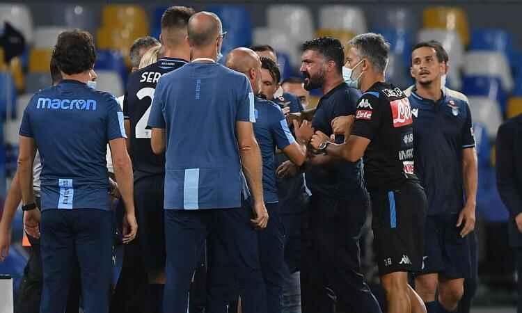 """Napoli, arrivano le scuse del fisioterapista laziale a Gattuso: """"Sono stato inopportuno"""""""