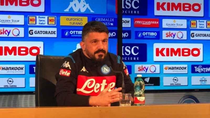 """Napoli, Gattuso: """"Oggi abbiamo fatto bene, non ci siamo mandati a quel paese. Il Napoli ha 18 punti"""""""
