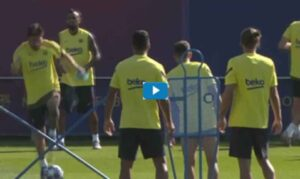 VIDEO – Il Barcellona si allena in vista del Napoli