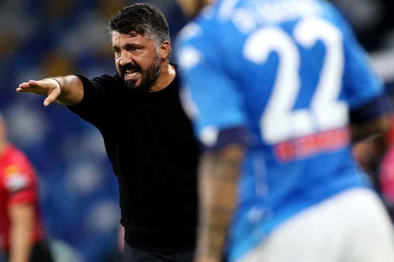 Napoli 6 - 0 Genoa, queste le parole di coach Gattuso.