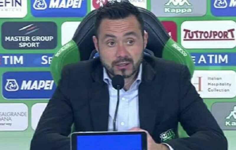 """De Zerbi: """"Avevo detto ai miei che vincere a Napoli sarebbe stato possibile"""""""