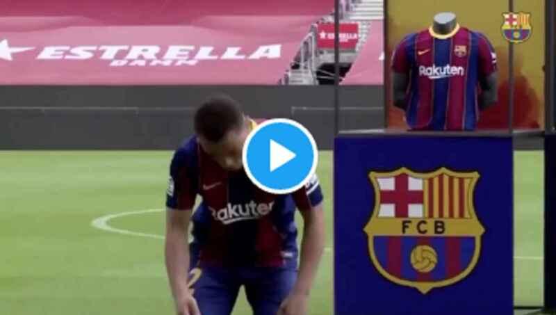 VIDEO – Serginho Dest non riesce a palleggiare durante la presentazione