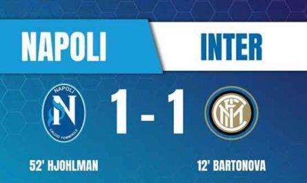 NAPOLI FEMMINILE - Ricorso per la partita con l'Inter persa a tavolino.