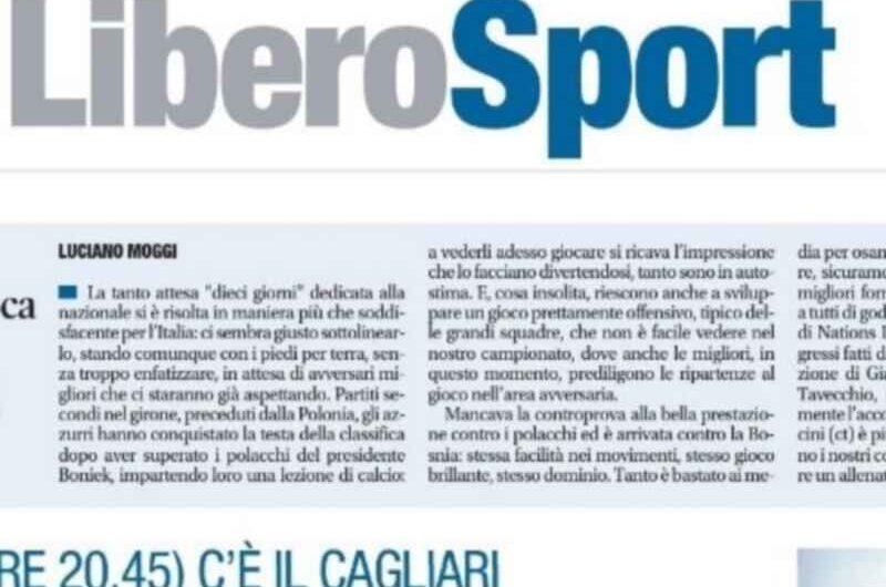 """FOTO – """"Il Covid tifa Juve"""", il titolo pungente di Libero Sport"""