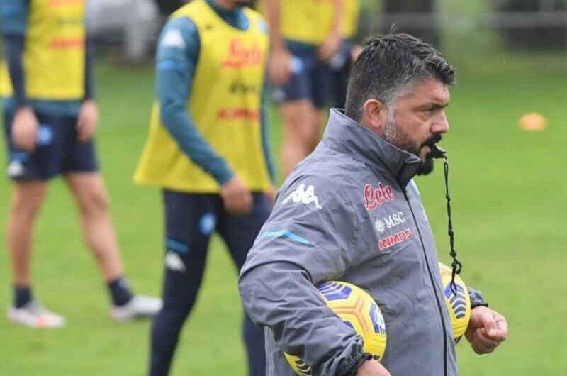Napoli-Lazio: la probabile formazione di Gattuso per il big match contro i biancocelesti