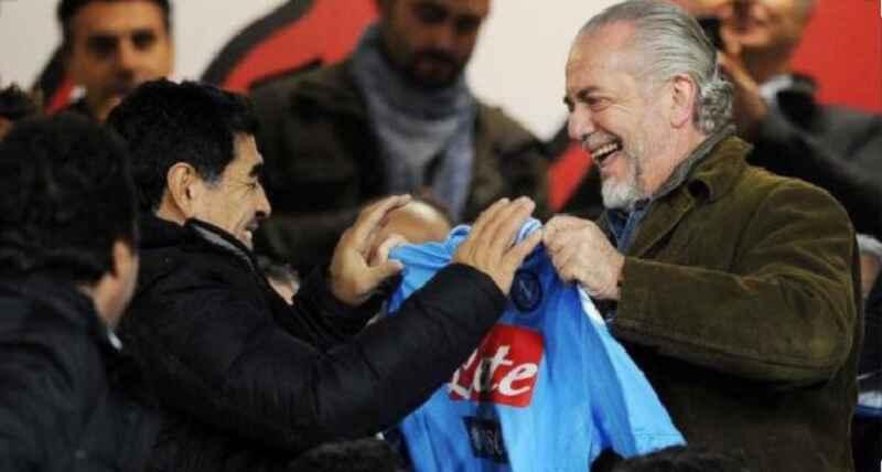 """De Laurentiis: """"Abbiamo convinto la UEFA: questa sera ricordo per Maradona in modo speciale"""""""