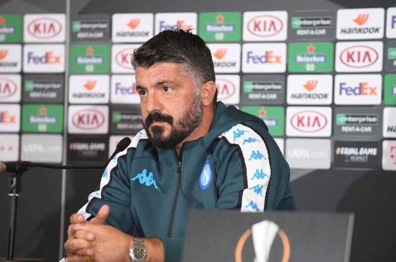 """Napoli, Gattuso: Non c'è stato nessun litigio, non ho puntato il dito contro i giocatori, bel gioco? Non sempre basta"""""""