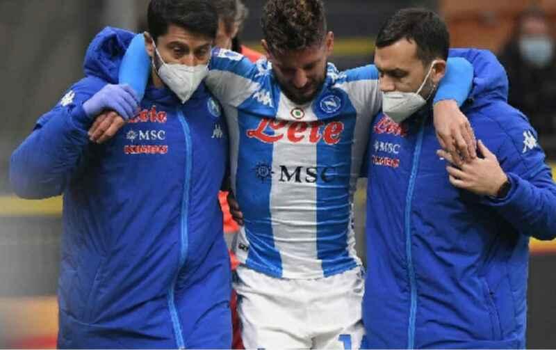 UFFICIALE – Infortunio Mertens, il comunicato della SSC Napoli: trauma distorsivo di primo/secondo grado alla caviglia sinistra con interessamento del comparto mediale
