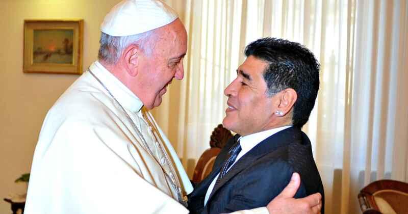 Maradona, il messaggio d'amore di Papa Francesco