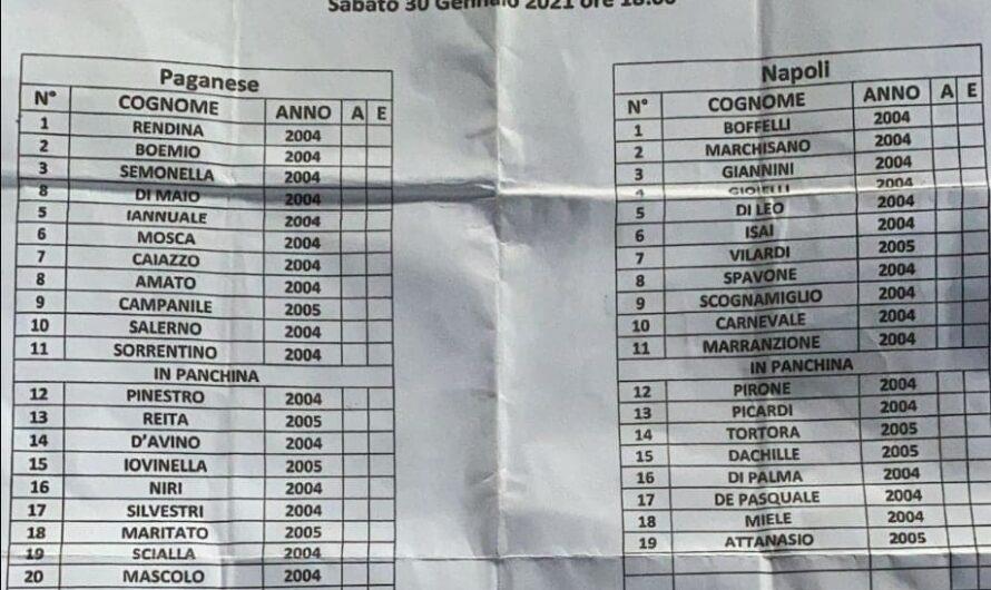 DISTINTA – Derby Paganese-Napoli (U17): ecco il finale