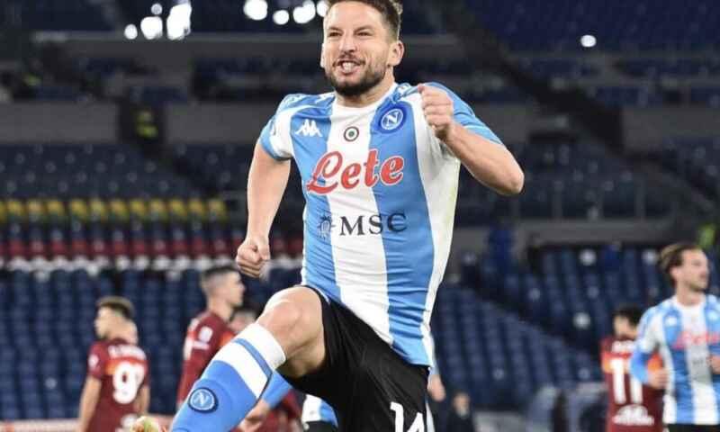 Roma-Napoli 0-2: una doppietta di Mertens decide la gara dell'Olimpico