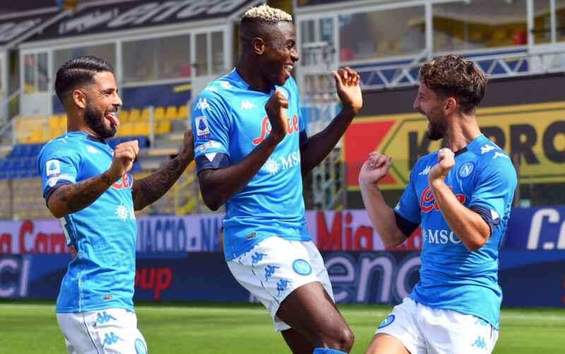 Napoli, contro il Crotone è andato in gol il tridente azzurro al completo