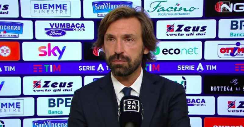 """Juventus Pirlo: """"Altro che rassegnati,siamo a un punto dalla Champions raggiungeremo l'obiettivo"""""""