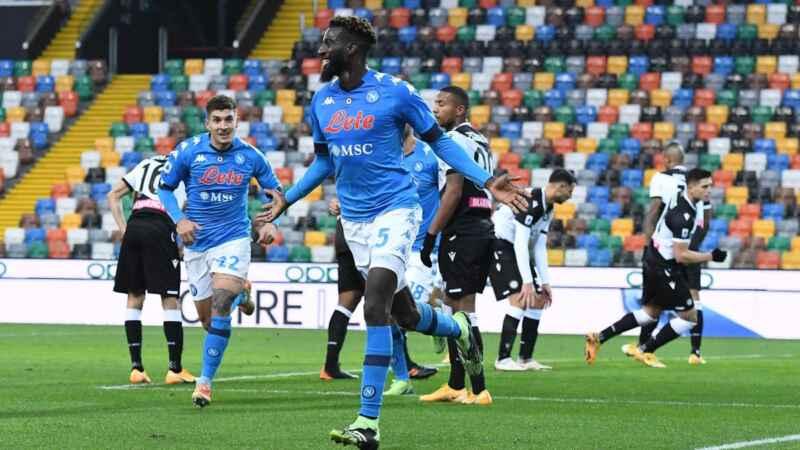 Napoli-Udinese: la probabile formazione, torna Bakayoko dal primo minuto
