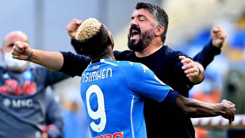 Napoli, il commovente saluto di Osimhen a Gattuso